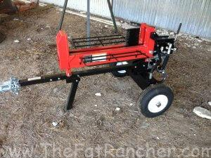 Harbor Freight Log Splitter fully assembled