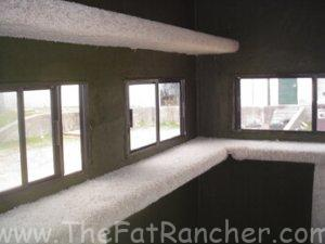 Photo of T-Box Deer Blind 4x8 interior finish